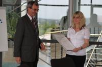 Dr. Erich Frank (Flint Group) mit Yvonne Lechner