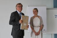 Thomas Brackvogel, Südwest Presse, mit Kristina Lobe