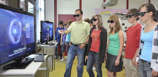 Der Cyber-Classroom im Einsatz (Foto: Visenso GmbH)