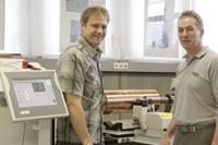 Matthias Galus, HdM, mit Kurt Conrad, Hell Gravure Systems (rechts)