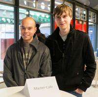 HdM-Studenten Tobias Zeller und Simon Gebauer (v.l.n.r., Fotos: Hannes Buchwald)