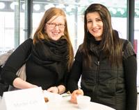 Steffi Herp und Sarina Ottenbacher aus Offenburg (v.l.n.r.)