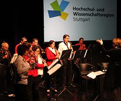 Musikalische Einleitung beim ersten Treffen des Vereins der Hochschul- und Wissenschaftsregion Stuttgart im Theaterhaus