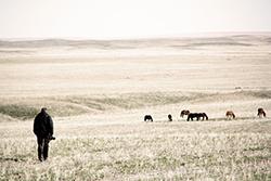 Beim Fotoshooting in Kasachstan