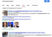 Google News wurde zur Zielscheibe der Verleger, Foto: Screenshot von news.google.de