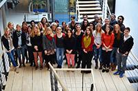 Das HdM-Team der conmedia: 39 Studenten des Studiengangs Elektronische Medien Master und des Bachelorstudiengangs Medienwirtschaft.