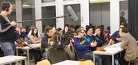 Das RTL-Team in der Lehrveranstaltung von Prof. Dr. Franco Rota, Fotos: Franziska Böhl.