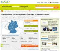 Die Website des Arbeitgeber-Bewertungsportals kununu. (Foto: kununu®)