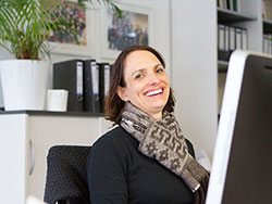 Sabine Bothner-Kübler ist Mitarbeiterin im Startup Center der Hochschule der Medien.