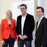 Melanie Kösser, Michael Antwerpes und Veit Berthold (v.l.n.r.).