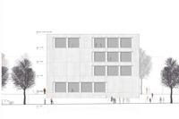 """Gebaut wird vor dem """"Pavillon"""" (Bilder: Büro Simon Stuttgart, Planungsstand Februar 2013)"""