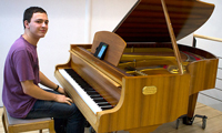 Klavierspieler verzaubern die HdM, Foto: Katharina Großwendt.