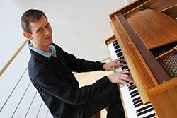 Pianist und Student der Universität Stuttgart: Felix Fechner.