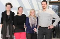 Die Kollegen des Didaktikzentrums der HdM: Katrin Sauermann, Erlijn van Genuchten, Andrea Hempel und Sebastian Kelle