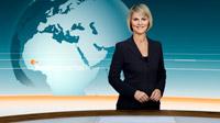 Das neue Nachrichtenstudio des ZDF: Das heute-journal mit Gundula Gause (Bild: © ZDF, Foto: heute-journal, Montage: Kerstin Bänsch)