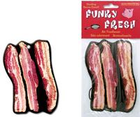 Leckeren Bacon-Duft gibt es mit dem Bacon-Lufterfrischer auch im Auto, Foto: www.coolstuff.de