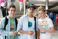Neue Fans der HdM: Julian, Sebastian und Konstantin