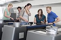 Die Ausstattung in allen Druckverfahren ist europaweit einmalig