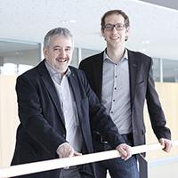 Die Professoren Gunter Hübner und Marko Hedler (rechts)