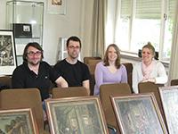 Die Organisatoren: Robin Müller, Daniel Schuler, Kerstin Reiber und Teresa Granser (von links)