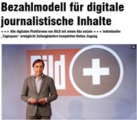 BILD-Vorstand Andreas Wiele erklärte am 27. Mai 2013 das neue Bezahlmodell auf BILD, Foto: Screenshot von http://www.bild.de/news/inland/bildplus/marken-abo-und-bezahlmodell-fuer-digitale-journalistische-inhalte-30578338.bild.html, Foto: Fabian Matzerath