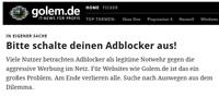 Golem.de ist eines der Nachrichtenportale, das keine Bezahlschranke einführen will.