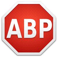 Der Werbeblocker Adblock unterstützt die Zeitungskampagne, Quelle: http://upload.wikimedia.org/wikipedia/commons/f/f4/Adblockplus_icon.png