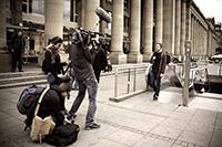 Der MEDIA LOUNGE-Außenreporter im Einsatz auf Stuttgarts Straßen