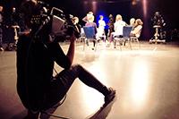 Kamerafrau Alina beim Studiotest