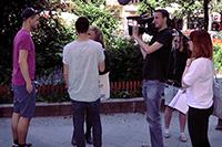 Auch in Berlin wurde gedreht (Fotos: Projektteam)