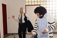Hauptdarstellerin Ruhsar Aydogan und Hauptdarsteller Volkan Demirkan