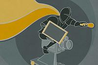 Das Plakat-Design stammt dieses Semester von Linda Weinmann und Sebastian Zeeden