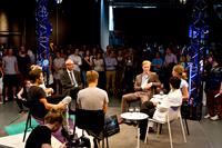 Eine Stunde lang diskutierten die Gäste bei der MEDIA LOUNGE über Politik, Medien und junge Menschen.