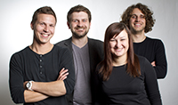 Sven Straubinger, Patrick Burkert, Diana Bullmann und Benjamin Schaufler (von links, Fotos: Zeitfenster)