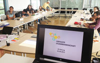 Gestern wurde in der ersten VS-Sitzung der neue Vorstand gewählt und die neue Marketingstrategie vorgestellt, Quelle: VS der HdM Stuttgart.