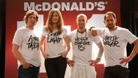 Oliver Korittke, Alexandra Maria Lara, Jürgen Vogel und Moritz Bleibtreu als McDonald's-Produkte (Foto: McDonalds Deutschland)
