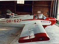 Zu den Hobbys von Harri Airaksinen gehört Fliegen...