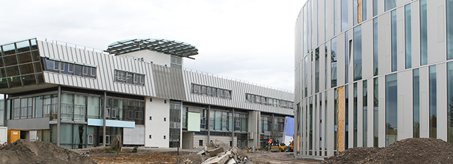 Das neue Gebäude in der Nobelstraße 8 bietet den über 1000 Studenten der Fakultät 3 mit 4.600 Quadratmetern Fläche Platz für neue Seminar- und Lehrräume.