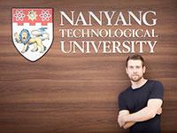 David Seydel auf dem Campus der NTU, Foto: privat