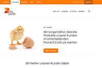 Screenshot der Unternehmenswebseite