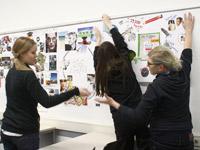 Das Vision-Board dient der Visualisierung und Verbesserung des jeweiligen Vorhabens. Fotos: Generator - HdM Startup Center
