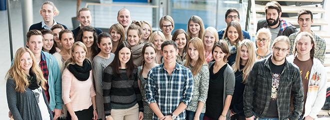 Das Team der Conmedia im Wintersemester 2013/2014 (Foto: Katharina Frieg)