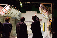 Für den Dreh nachgebaut: ein Raumschiff