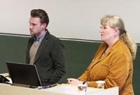 Maik Golinski und Barbar Gröger von der Bezirksdirektion Stuttgart der Gema.