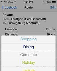 In der App können individuelle Fahrerprofile angelegt werden.