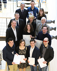 Die Preisträger des Wintersemesters mit ihren Laudatoren