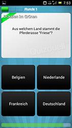 Zwischen vier verschiedenen Antwortmöglichkeiten können die Nutzer der App wählen.