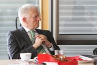 Der Oberbürgermeister Fritz Kuhn bei seinem HdM-Besuch.