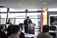 HdM-Rektor Prof. Dr. Alexander W. Roos begrüßte die Teilnehmer