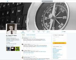 @datenreiserecht: Der Twitter-Account von Prof. Dr. Tobias Keber; Quelle: Screenshot der Seite